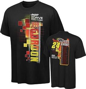 NASCAR Hendrick Motorsports Jeff Gordon #24 AARP Black Starter T-Shirt by Checkered Flag