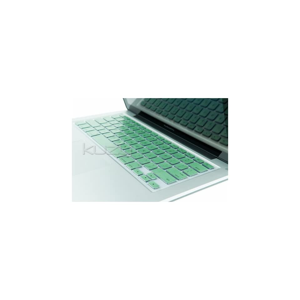 Kuzy   METALLIC GREEN Keyboard Silicone Cover Skin for MacBook / MacBook Pro 13 15 17 Aluminum Unibody (fits MacBook with or w/out Retina Display)