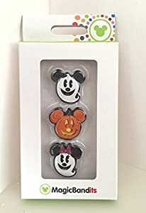 Disney Parks Halloween Mickey Mouse Ghost Pumpkin Magic Band Bandits Set of 3 Charm NEW