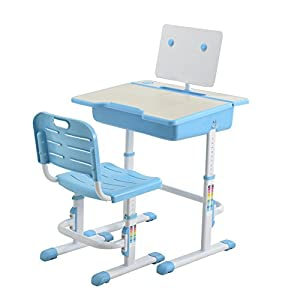Height adjustable kids desk chair with free steel - Ergonomic table and chair ...