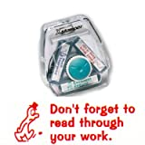 Teachers Stamp to fit the Xstamper 3 in 1 Dont Forget To Read Through Your Work CXM19022 stamp block only