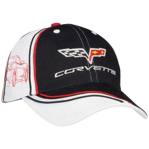 c6-corvette-black-and-white-silhouette-hat