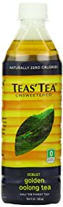 Teas' Tea, Unsweetened Golden Oolong, 16.9 Ounce (Pack of 12)