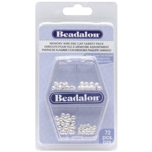 Beadalon Memory Wire End Cap, Variety Pack, 72-Piece