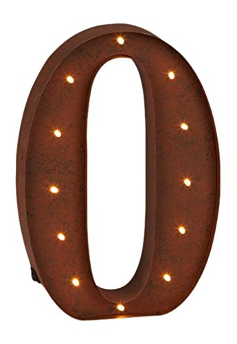 The Gerson Company LED Lighted Numeral ''0