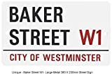 Unique - Baker Street W1- Large Metal 380 X 230mm Street Sign