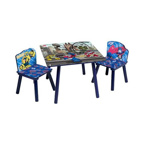 transformers kids table and chairs set. Black Bedroom Furniture Sets. Home Design Ideas