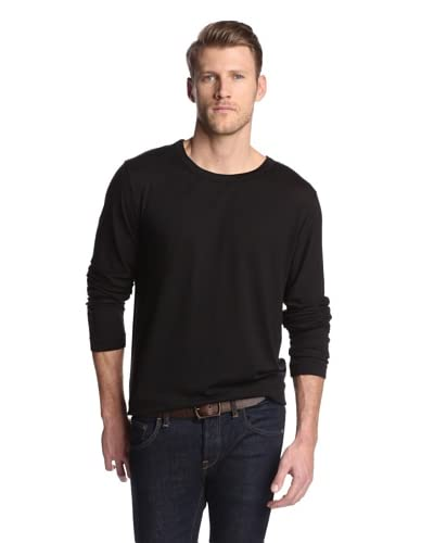 With & Wessel Men's Midweight Long Sleeve Crew Neck Knit