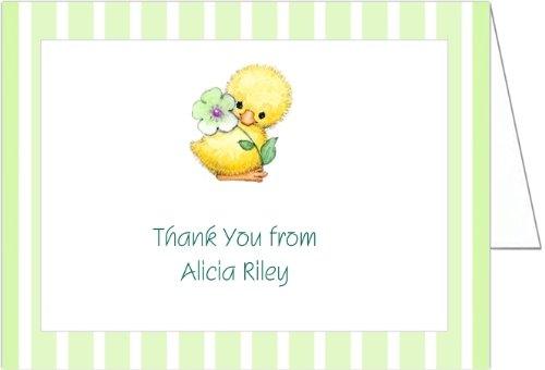 Yellow And Mint Ducky Baby Shower Thank You Cards - Set Of 20 front-998492