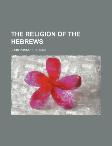 The religion of the Hebrews
