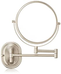 Jerdon JP7507NB 8-Inch Wall Mount Makeup Mirror with 7x Magnification, Nickel Beaded Finish