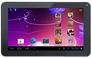 iRulu 9 inch Android Tablet PC, 4.2.2 Jelly Bean OS, Dual Core, Allwinner A20 CPU, Dual Cameras, 5 Point Capacitive Touch Screen, 8GB Storage, Black Color