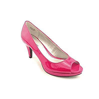 Bandolino Women's Mylah Peep Toe Pumps in Dark Pink Size 10