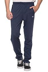 COLORS & BLENDS - Denim - Cotton Track Pants with Zipper cross-pocket - Size XL