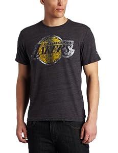 NBA Los Angeles Lakers Tri-Blend T-Shirt Black by adidas