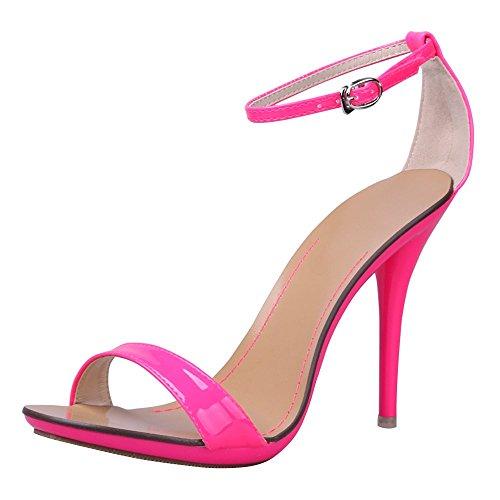 RUAYE Vogue 7colori Donne t-stage Clasic Dancing sexy tacco alto sandali in Tinta Unita, rosa (Pink), 38 EU