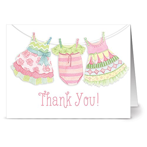 thank-you-clothesline-pink-36-note-cards-blank-cards-hot-pink-envelopes-included