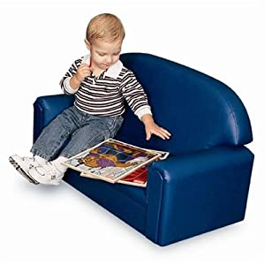 World Toddler Premium Vinyl Upholstery Sofa - Blue by Brand New World