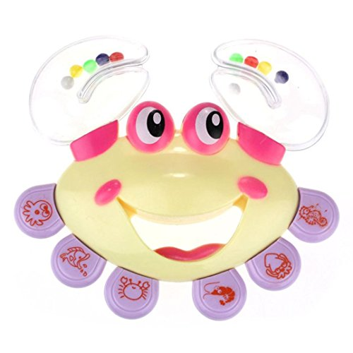 XILALU baby toy Kids Baby Crab Design Handbell Musical Instrument Jingle Rattle Toy