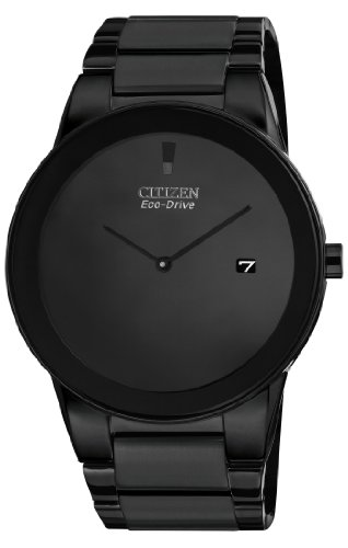 Citizen #AU1065-58E Men's Eco Drive Axiom Black IP Stainless Steel Black Dial Watch