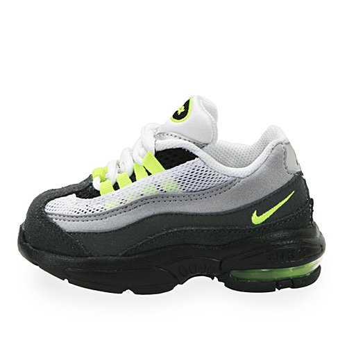 Nike Kids Little Max 95 (Td) Black Neon Yellow 311525-036 (4 infant m, White/Neon Yellow-Black-Anthracite)