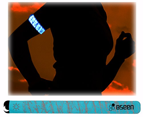 BSeenTM 2ed Generation LED Slap Band, Patented Heat sealed design, Glow in the Dark, Water/sweat resistant, highly reflective printing, artistic designs, fashion meets safety (Blue-Design II) Mind Games T-Shirt