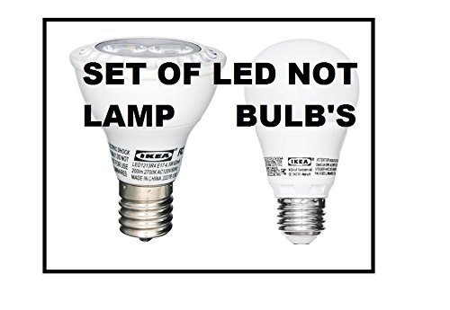 "Special Required Ikea E17 & E26 Low Energy Led ""Not Lamp"" Bulbs"