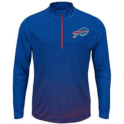 "Buffalo Bills Majestic NFL ""Intimidating"" 1/2 Zip Mock Neck Pullover Shirt"