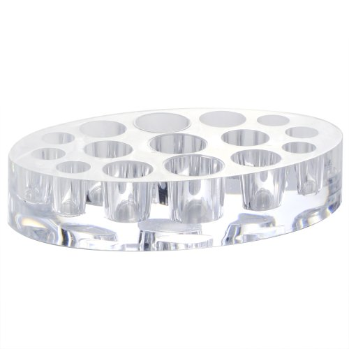 niceeshop(TM) 15 Holes Oval Tattoo Acrylic Pigment Top Quality Ink Cup Holder-Transparent