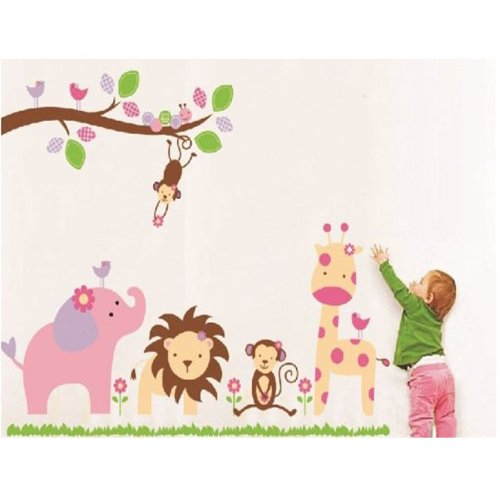 Mzy Llc (Tm) Jungle Tree Monkey Nursery Baby Room Removable Wall Sticker Decals For Boys And Girls Children'S Wall Décor Art Sticker Decals