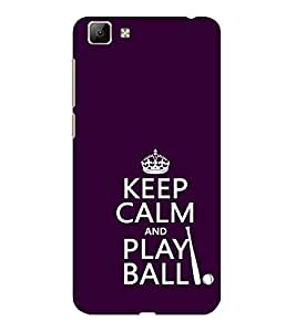 ifasho Nice Quote On Keep Calm Back Case Cover for VIVO Y35
