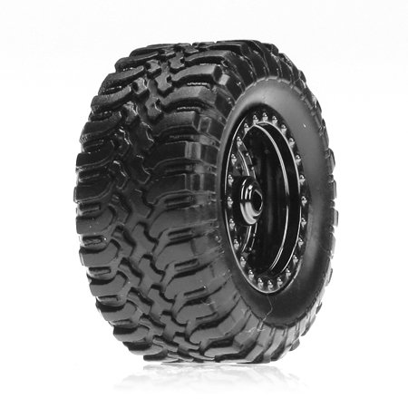 Desert Tire Set Mounted, Black Chrome (4):Micro DT