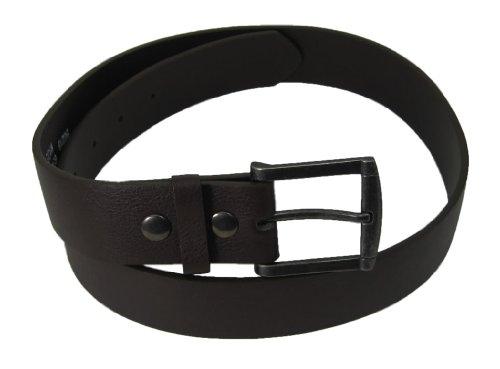 Nice Shades Genuine Leather Plain Leather Belt Detachable Buckle. Brown. Medium