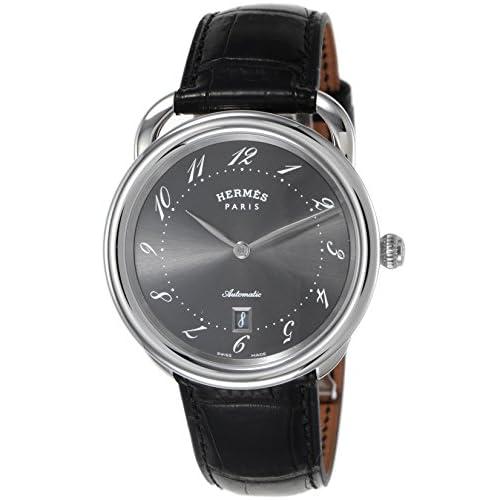 [エルメス]HERMES 腕時計 アルソー グレー文字盤 自動巻 アリゲーター革 AR7.710.230/MNO メンズ 【並行輸入品】