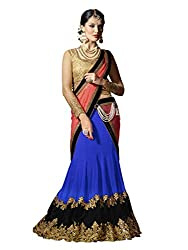 Touch Trends Blue Embroidered Lehenga Choli