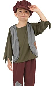 Smiffys Kids Victorian Orphan Boys Oliver Twist Halloween Costume Small