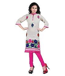 Shubh Women's Cotton Kurti (Shubh_191_Multi-Coloured_Free Size)