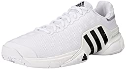 Adidas Performance Men\'s Barricade 2015 SW19 Tennis Shoe, White/Black/White, 11.5 M US