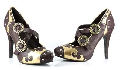 Ellie Shoes Women's 420-STEEL Brown Sandal 6 B(M) US