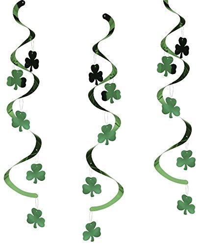Creative Converting 5 Count Dizzy Danglers Hanging Party Decoration, Shamrocks