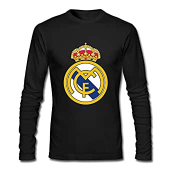Amazon.com: Men Real Madrid Logo Custom Cool Long Sleeve T-Shirt By