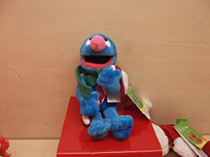 Gund Sesame Street: Grover With Christmas Jingle Plush Soft Toy 18cm approx 319823