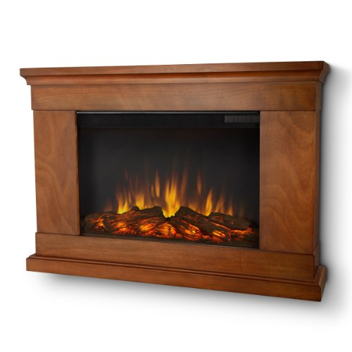 Real Flame Jackson SLIM LINE Wall-hung Electric Fireplace in Pecan - Mantel Only picture B00GM0ZK84.jpg