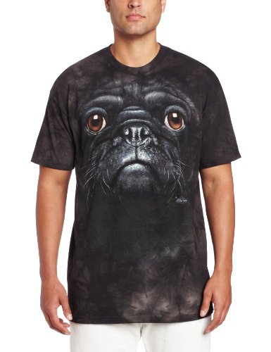 The Mountain Men's Pug Face T-Shirt, Black, Medium