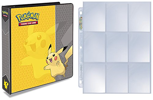 ultra-pro-pokemon-pikachu-3-ring-binder-with-25-platinum-9-pocket-pages-expandable-upto-200-pages