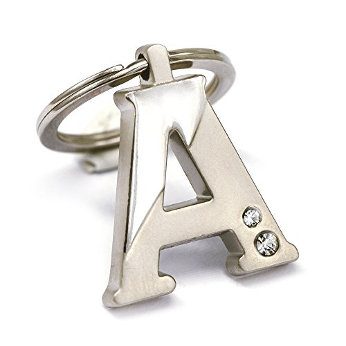New Arrival Initial Letter A Key Ring with Pouch Bag Z75-M0716 (Initials Ring compare prices)
