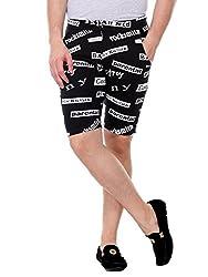 Glasgow Men's Cotton Shorts (NICK446_Black_XX-Large)