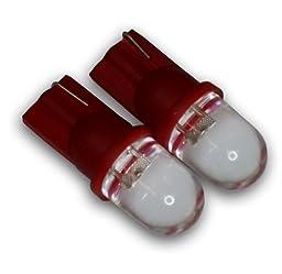 TuningPros LEDCK-T10-R1 Clock LED Light Bulbs T10 Wedge, 1 LED Red 2-pc Set