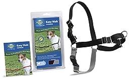 PetSafe Easy Walk Dog Harness, Small, Black/Silver