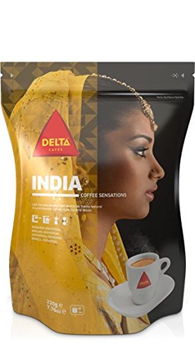 Delta Ground Roasted Coffee fom INDIA for Espresso Machine or Bag 250g (Fom Coffee Cups compare prices)
